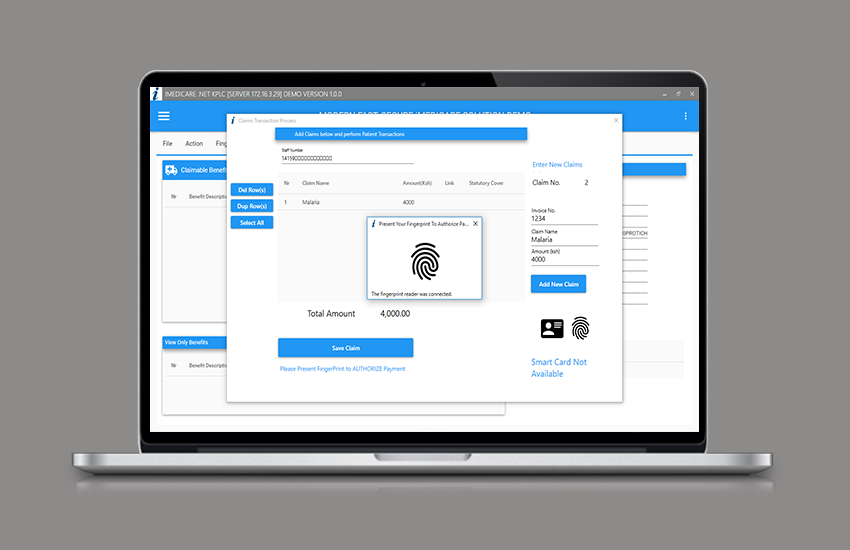 Smart Card & Fingerprint authentication System