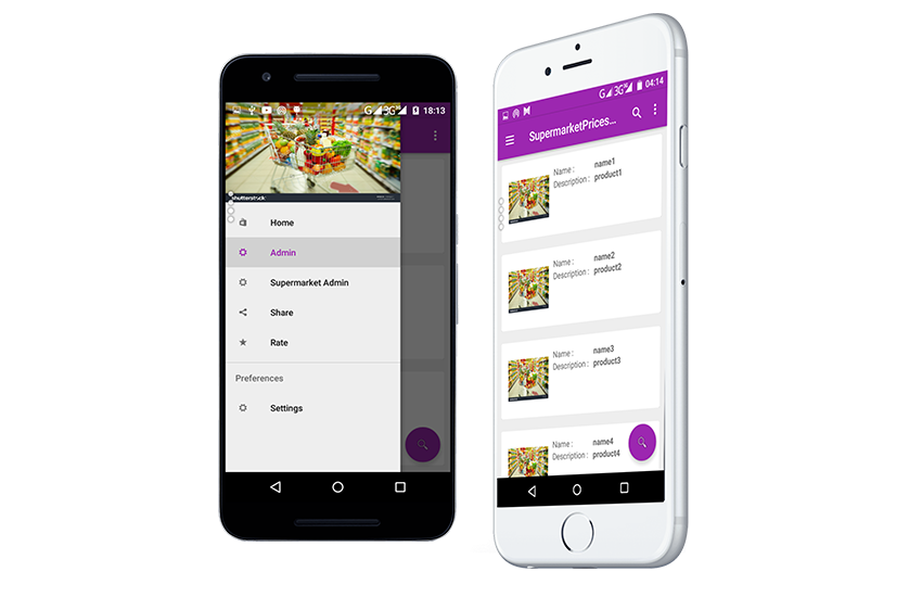 Supermarket Prices Comparison app