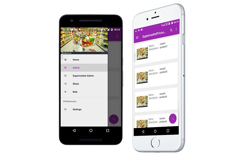 Supermarket Prices Comparison app